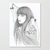 White Feather Canvas Print