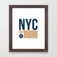N.Y.C. Pick-Up Basketball Framed Art Print
