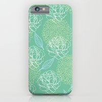 Pastel Peony and Leaf Pattern Design  iPhone 6 Slim Case