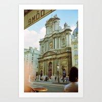 Paris In 35mm Film: Egli… Art Print