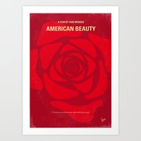 No313 My American Beauty minimal movie poster Art Print
