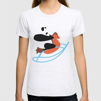 Panda Rock Womens Fitted Tee Ash Grey SMALL