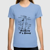 Anatomy Of A Bunny Womens Fitted Tee Athletic Blue SMALL