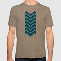 3D In Ocean Tones Mens Fitted Tee Tri-Coffee SMALL