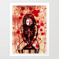 Depressed girl Art Print
