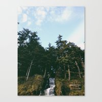 Canvas Print featuring Waterfall To Sea by Keaten Abbott