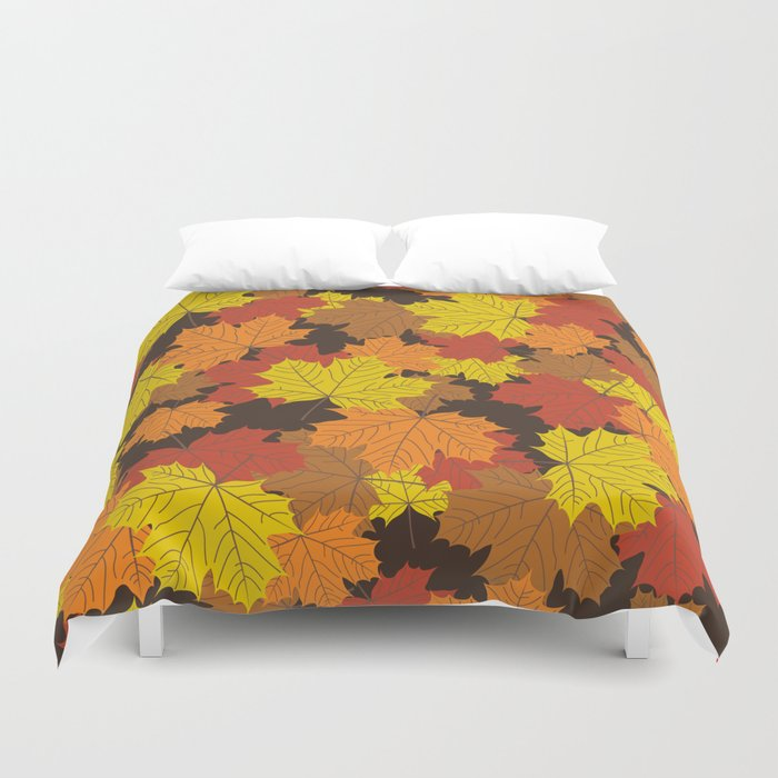 Fall Leaves Duvet Cover By Daw Surface Design Society6