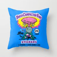 TRASH COMPACTOR KIDS Throw Pillow