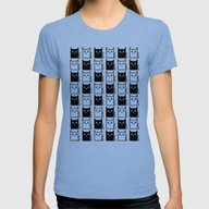 A Chess Of Cats Womens Fitted Tee Tri-Blue SMALL