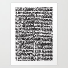 My style is better than yours punition Art Print
