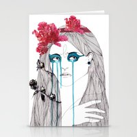 Painted Eyes Stationery Cards