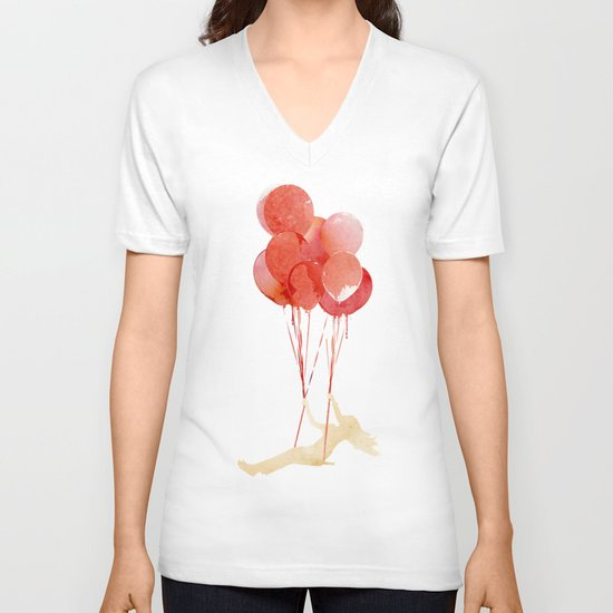 Fly away V-neck T-shirt
