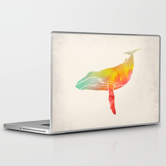 Watercolor Whale Laptop & iPad Skin