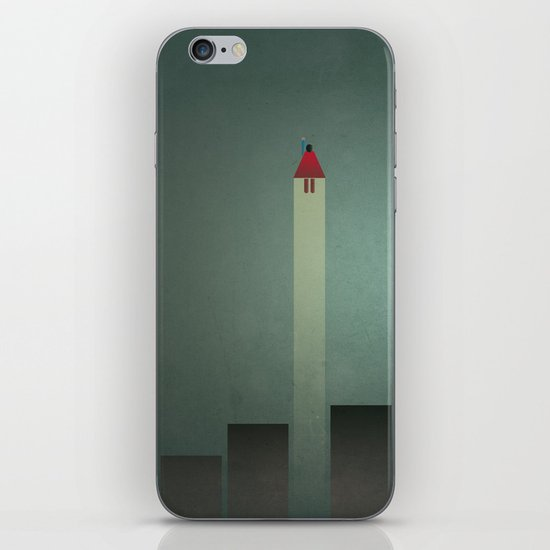 Smooth Minimal - Flying man iPhone & iPod Skin