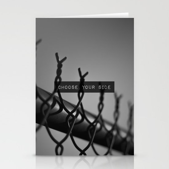Choose your Side Stationery Card
