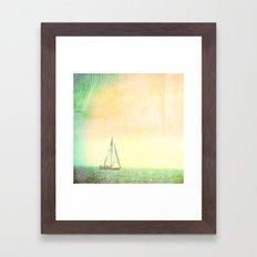 A day at Sea Framed Art Print