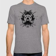 Kirby Ink Blot Geek Psyc… Mens Fitted Tee Tri-Grey SMALL