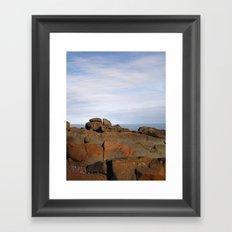 Superior Rocks Framed Art Print