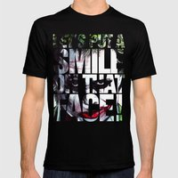 The Joker Mens Fitted Tee Black SMALL