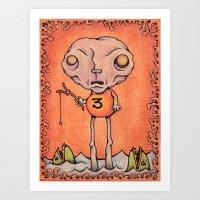 Number Three Art Print
