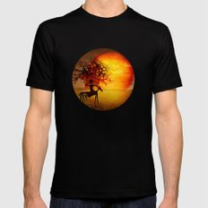 Visions of fire Black SMALL Mens Fitted Tee