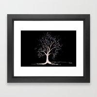 Dark elven tree Framed Art Print