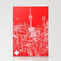 Toronto! (Dark T-shirt V… Stationery Cards