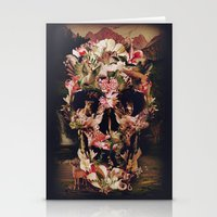 skull Stationery Cards featuring Jungle Skull by Ali GULEC