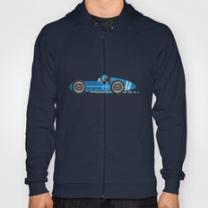 Blue Retro Racing Car Hoody