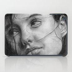 Angelina Jolie Traditional Portrait Print iPad Case
