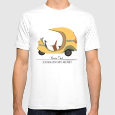 Coco Taxi - Cuba in my mind Mens Fitted Tee SMALL White