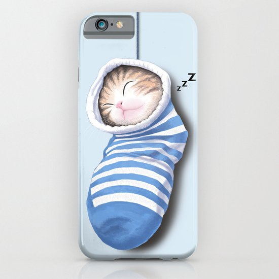 Cat in the Sock iPhone & iPod Case