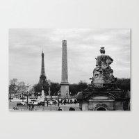 Place De La Concorde Canvas Print