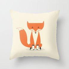 A Fox With Socks Throw Pillow