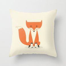 A Fox With Socks Throw Pillow