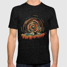 The Geometry Of Sunrise Mens Fitted Tee Tri-Black LARGE