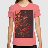 Summer Roses Series  - I -   Womens Fitted Tee Pomegranate SMALL