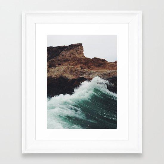 Montaña Wave Framed Art Print
