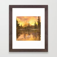 Sunset in the Tropics Framed Art Print