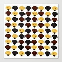 Labrador dog pattern Canvas Print