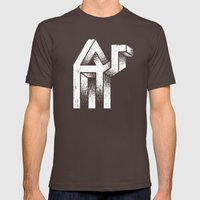 A Mirage Mens Fitted Tee Brown SMALL