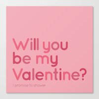 Will You Be My Valentine… Canvas Print