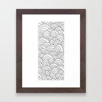 Sea of Lines 2 Framed Art Print