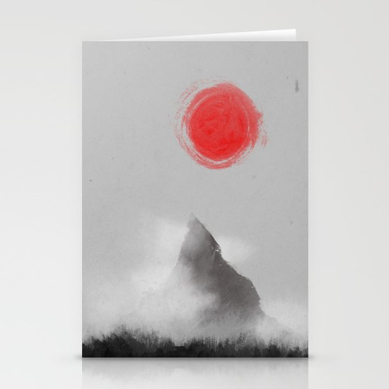 山- Mountain Stationery Card