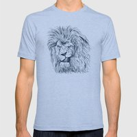 Lion Mens Fitted Tee Tri-Blue SMALL