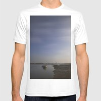 Moonlight On Boats Under… Mens Fitted Tee White SMALL