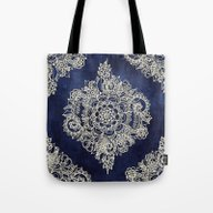 Tote Bag featuring Cream Floral Moroccan Pa… by Micklyn