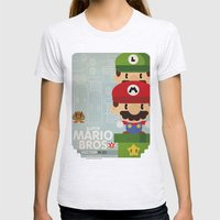mario bros 2 fan art Womens Fitted Tee Ash Grey SMALL