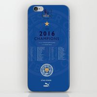 Tribute to Leicester Football Club - 2016 Premier League Champions, BLUE version iPhone & iPod Skin