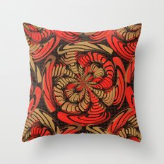 Decorative red and brown Throw Pillow